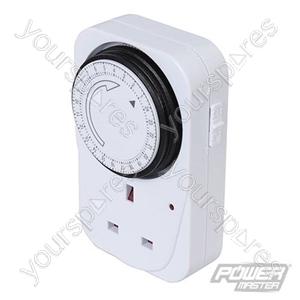 Plug-In Mechanical Timer 240V - 24 Hour