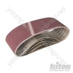 Aluminium Oxide Sanding Belt 5pk - 180 Grit