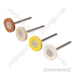 Rotary Tool Loose Leaf Buffing Kit 4pce - 20mm Dia