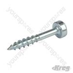 "Zinc Pocket-Hole Screws Pan Head Coarse - No.7 x 1"" 1000pk"