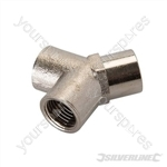 "Air Line 3-Way Connector - 1/4"" BSPT"