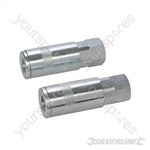 "Air Line Quick Coupler 2pk - 1/4"" BSP"