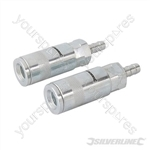 Air Line Hose End Quick Coupler 2pk - 8mm Hose End