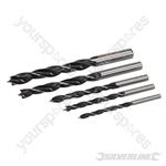 Lip & Spur Drill Bit Set 5pce - 4 - 10mm