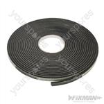 Self-Adhesive EVA Foam Gap Seal - 3 - 8mm / 10.5m Black