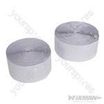 Hook & Loop Tape White Self-Adhesive 2pce - 50mm x 5m