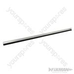 Door Brush Strip 15mm Bristles - 914mm Aluminium