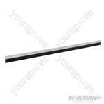 Door Brush Strip 25mm Bristles - 914mm White