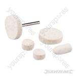 Rotary Tool Felt Polishing Set 6pce - 10, 14, 25mm Dia