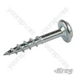 "Zinc Pocket-Hole Screws Washer Head Coarse - No.8 x 1"" 100pk"
