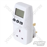 Mains Plug-In Power Consumption Monitor 240V - UK - 13A