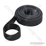 Self-Wrap Hook & Loop Tape Black - 25mm x 5m