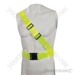 "Hi-Vis Reflective Sash Belt PVC - 78 - 108cm (30"" - 43"")"