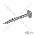 "Zinc Pocket-Hole Screws Washer Head Coarse - No.8 x 1-1/4"" 100pk"