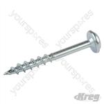 "Zinc Pocket-Hole Screws Washer Head Coarse - No.8 x 1-1/2"" 1200pk"