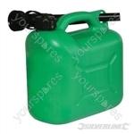 Plastic Fuel Can 5Ltr - Green