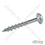 "Zinc Pocket-Hole Screws Washer Head Coarse - No.8 x 1-1/4"" 500pk"