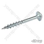 "Zinc Pocket-Hole Screws Washer Head Coarse - No.8 x 1-1/2"" 100pk"