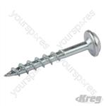 "Zinc Pocket-Hole Screws Washer Head Coarse - No.8 x 1-1/4"" 1200pk"