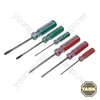 6pce Screwdriver Set Display Box 12pce - 6pce Set x 12
