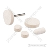 Felt Polishing Kit 6pce - 3.1mm dia Mandrel
