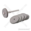 Rubber Polishing Wheel Kit 7pce - 22mm dia