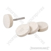 Felt Buffing Wheels Kit 5pce - 25mm dia