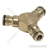 3-Way Connector Brass - 1/2""