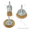 Wire Wheel &amp; Cup Brush Set 3pce - 6mm Shank
